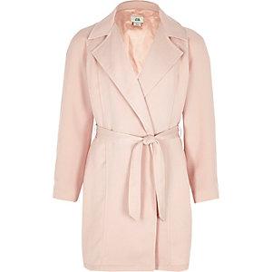 Roze lange dusterjas met lange mouwen voor meisjes