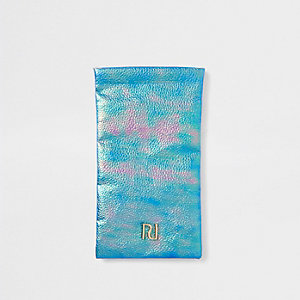 Girls blue RI mermaid sunglasses case