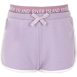 Girls lilac RI runner shorts