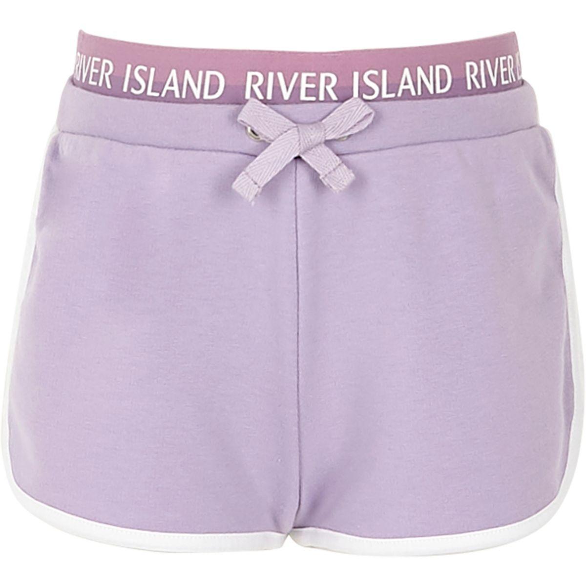 Girls lilac RI runner shorts