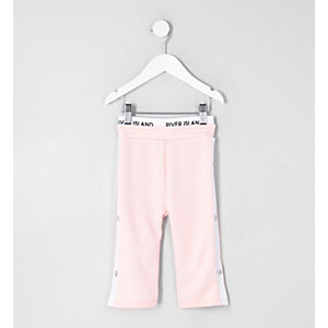 Mini girls RI Active pink popper side trouser