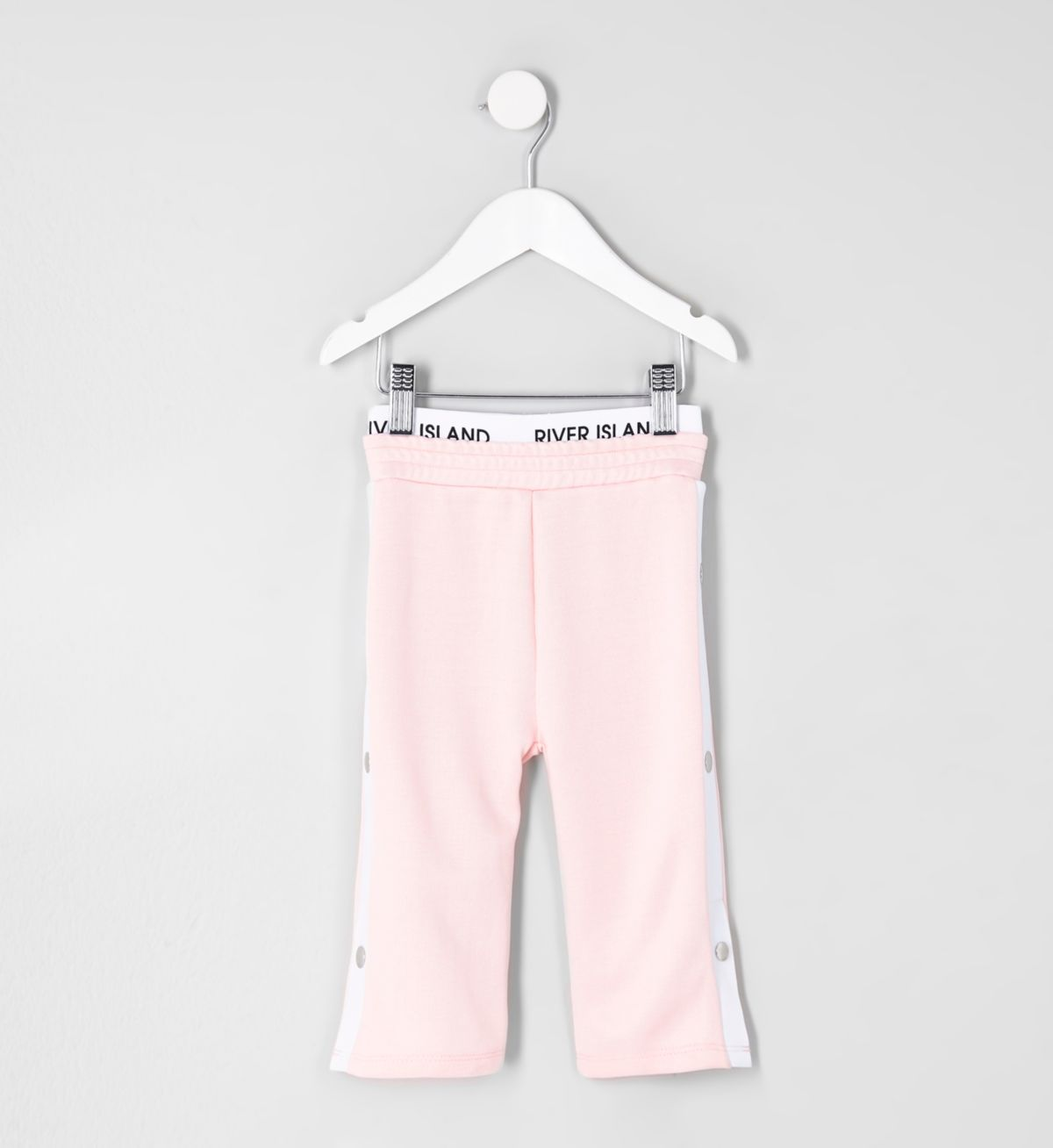 Mini girls RI Active pink popper side trouser