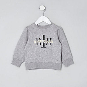 Mini girls grey RI branded sweatshirt