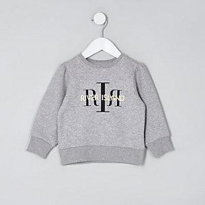 Sweat gris avec logo RI mini fille