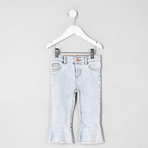 Mini girls Molly mid rise flared hem jeans