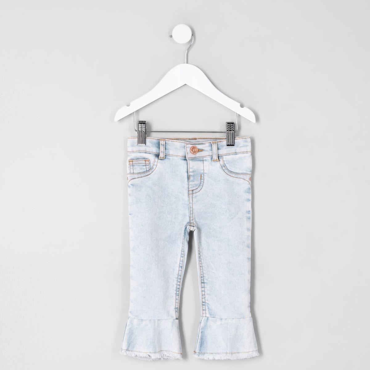 Mini girls Molly mid rise flared hem jeans