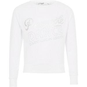 Witte pullover met glitter en ananasprint voor meisjes