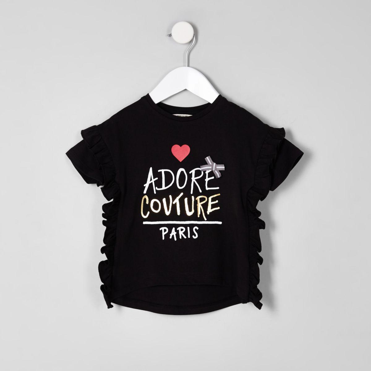 "Schwarzes T-Shirt ""couture"""