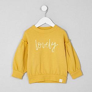Mini - Sweatshirt met ballonmouwen en 'Lovey'-print voor meisjes