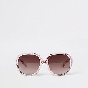Lunettes de soleil imprimé marbré rose mini fille