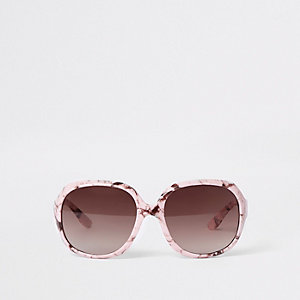 Mini girls pink marble sunglasses