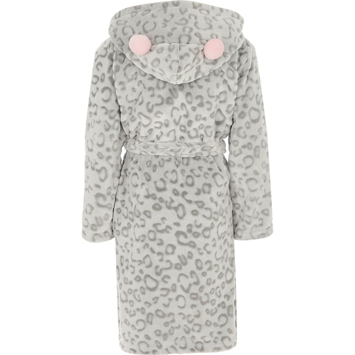 Girls grey leopard print dressing gown - Pyjamas & Underwear - girls