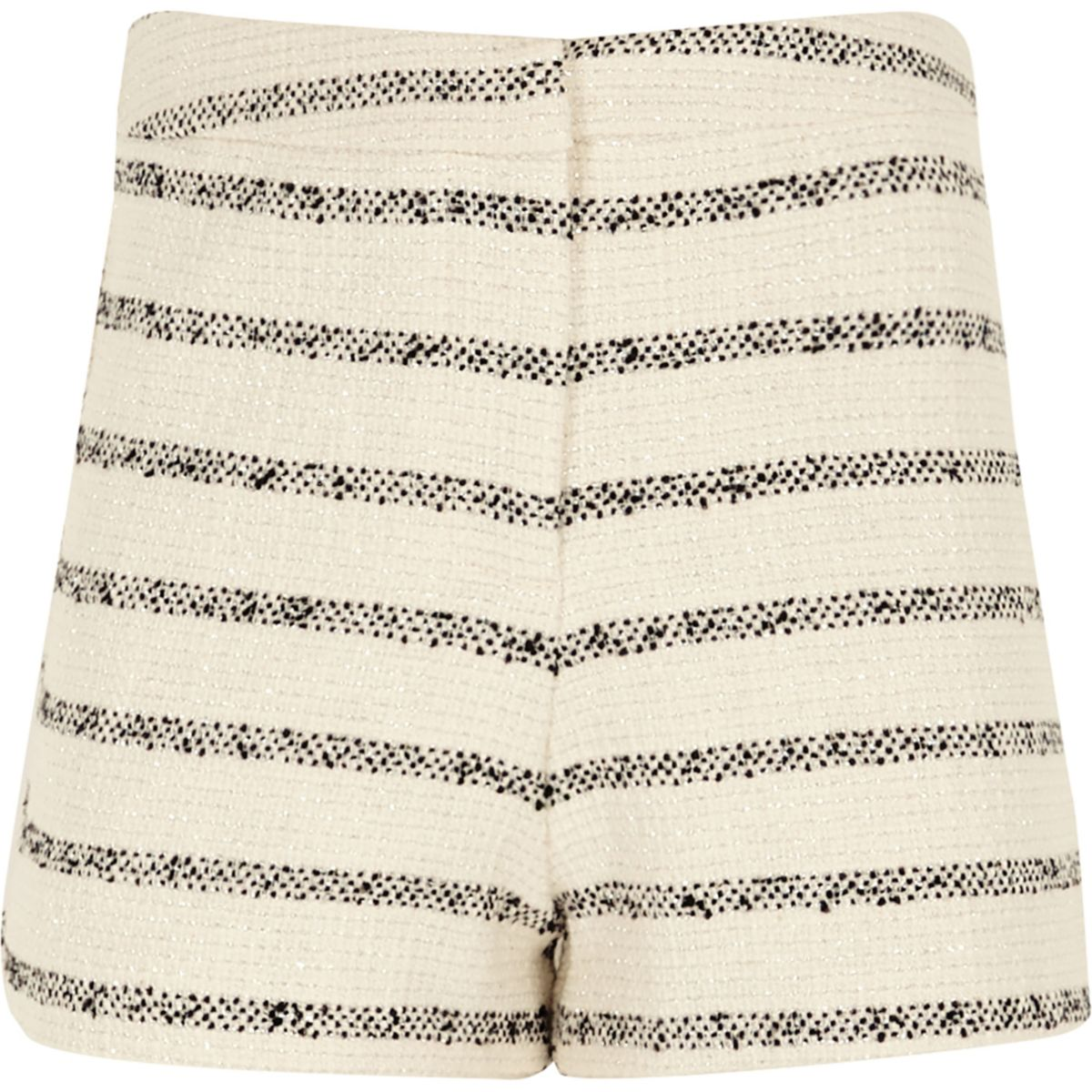 Girls stripe boucle shorts