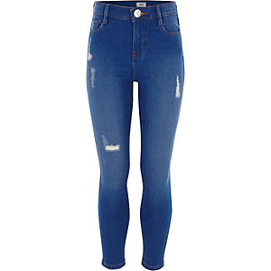 Amelie - Blauwe ripped jeans voor meisjes