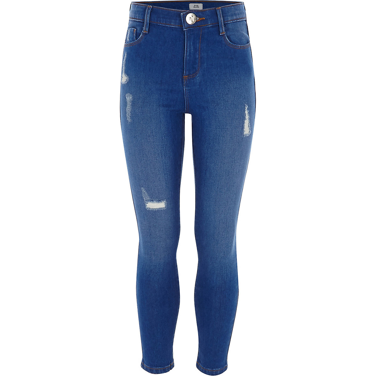 Girls blue ripped Amelie jean