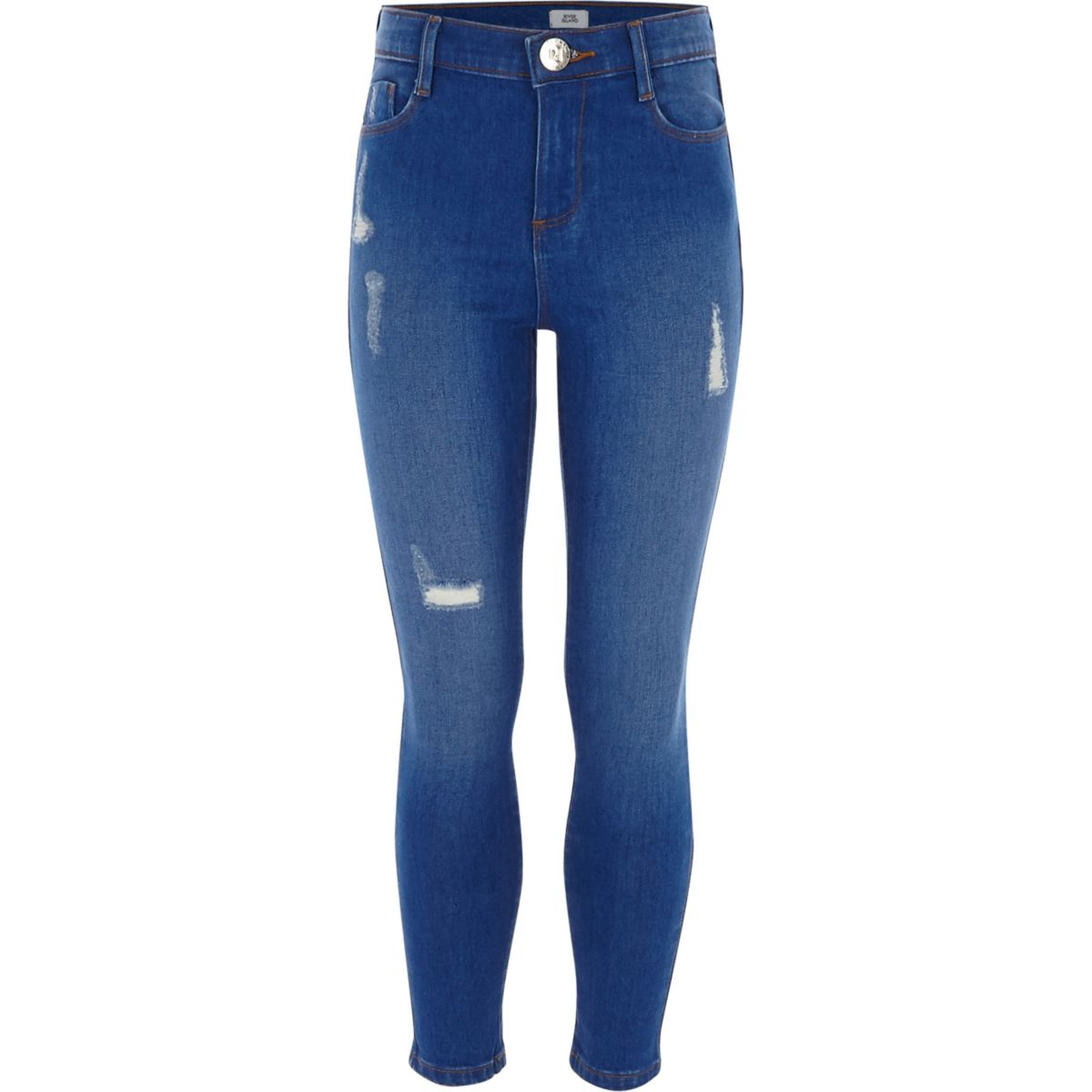 Girls blue ripped Amelie skinny jean