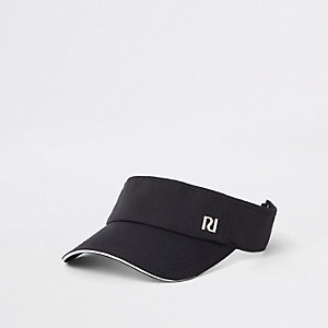 Girls black RI visor