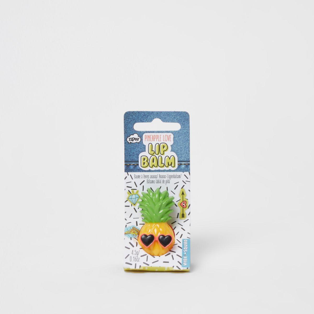 Girls yellow pineapple lip balm