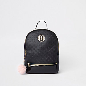 S Black Ri Monogram Backpack