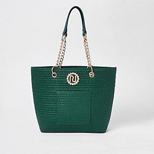 Girls RI embellished shopper bag