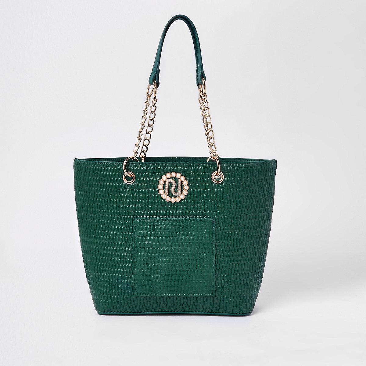 Girls RI embellished shopper