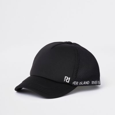 Kids Black Ri Mesh Baseball Cap by River Island