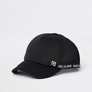 Zwarte mesh baseballpet met RI-logo voor kinderen