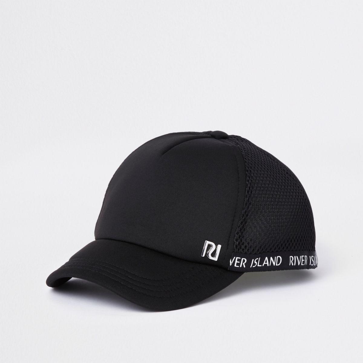 Kids black RI mesh baseball cap