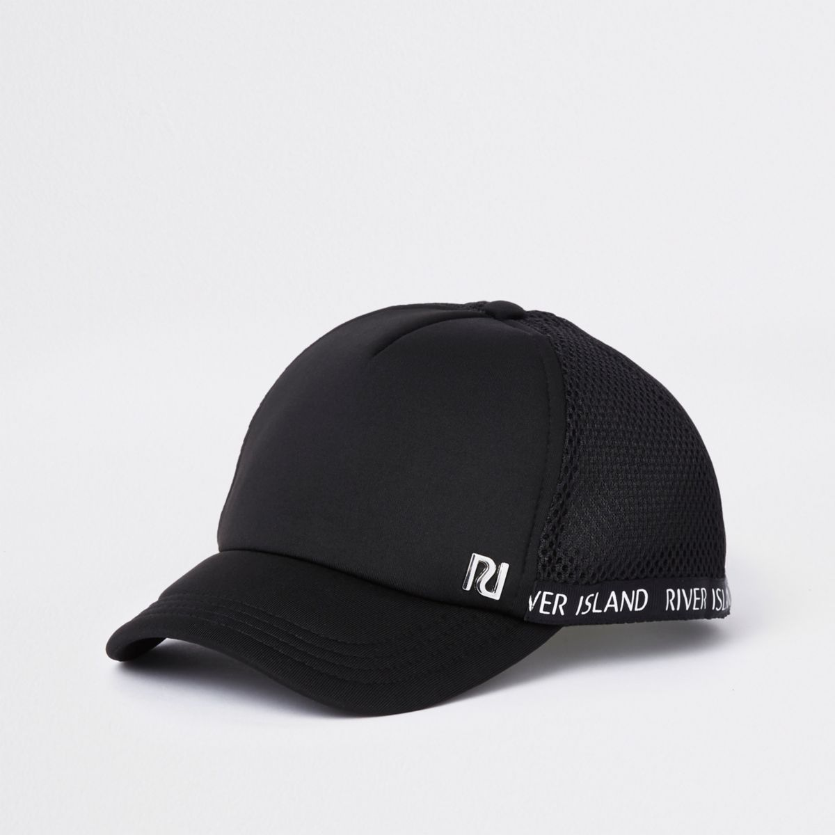 Kids black RI mesh baseball cap