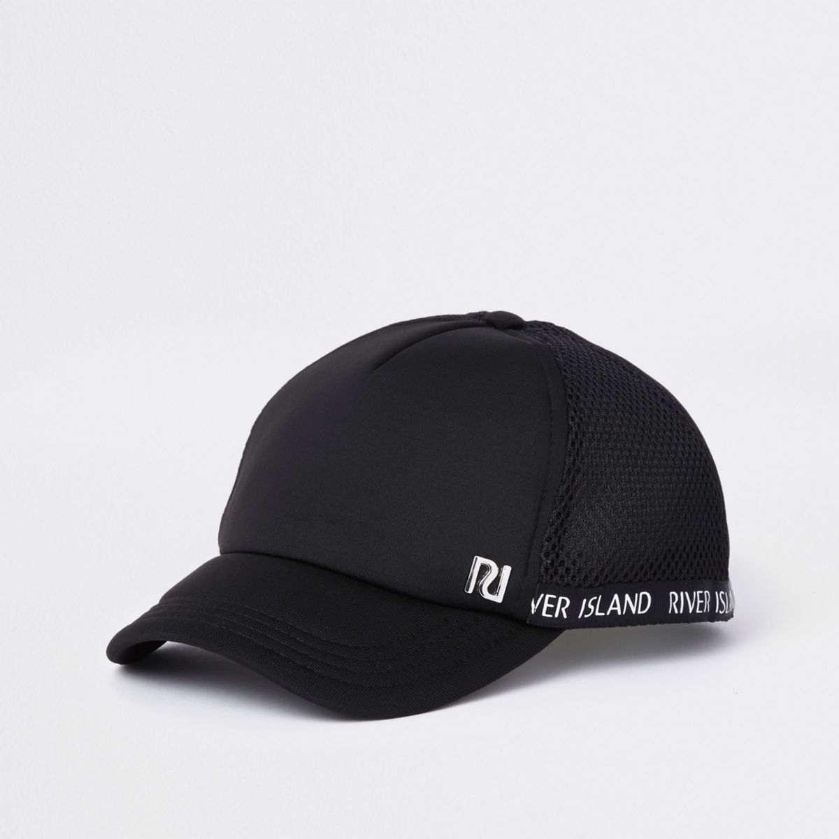 Mini girls black RI mesh baseball cap