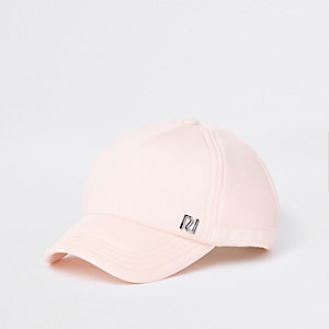 Roze mini baseballpet met RI-logo voor meisjes