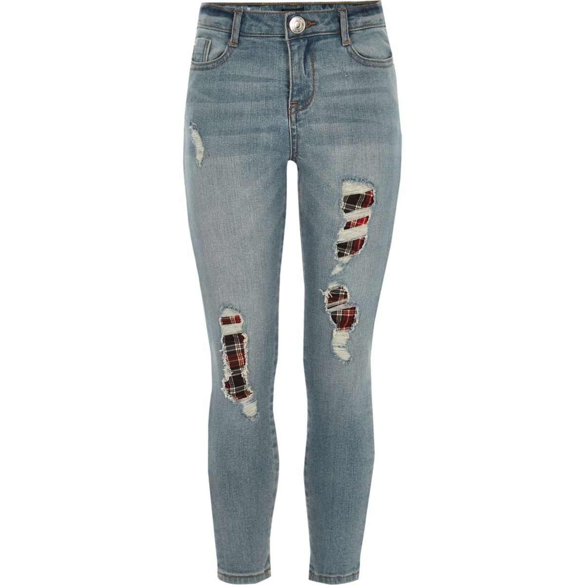Girls blue Amelie relaxed skinny jeans
