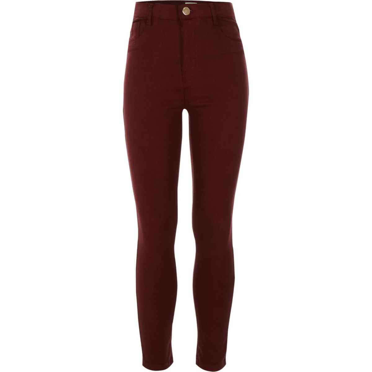 Girls dark red high rise Molly jeggings