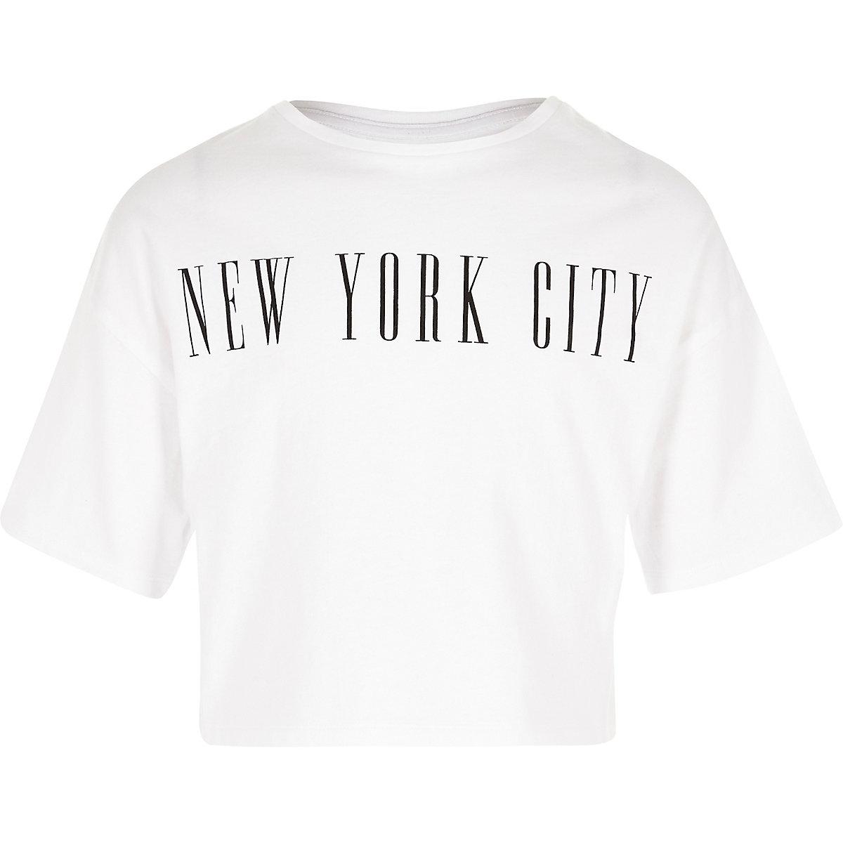 "Weißes, kurzes T-Shirt ""New York City"""