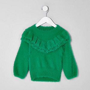 Mini - Groene zachte gebreide pullover voor meisjes