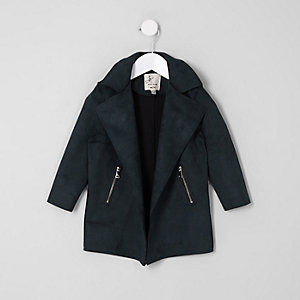 ​Mini girls navy waterfall jacket​