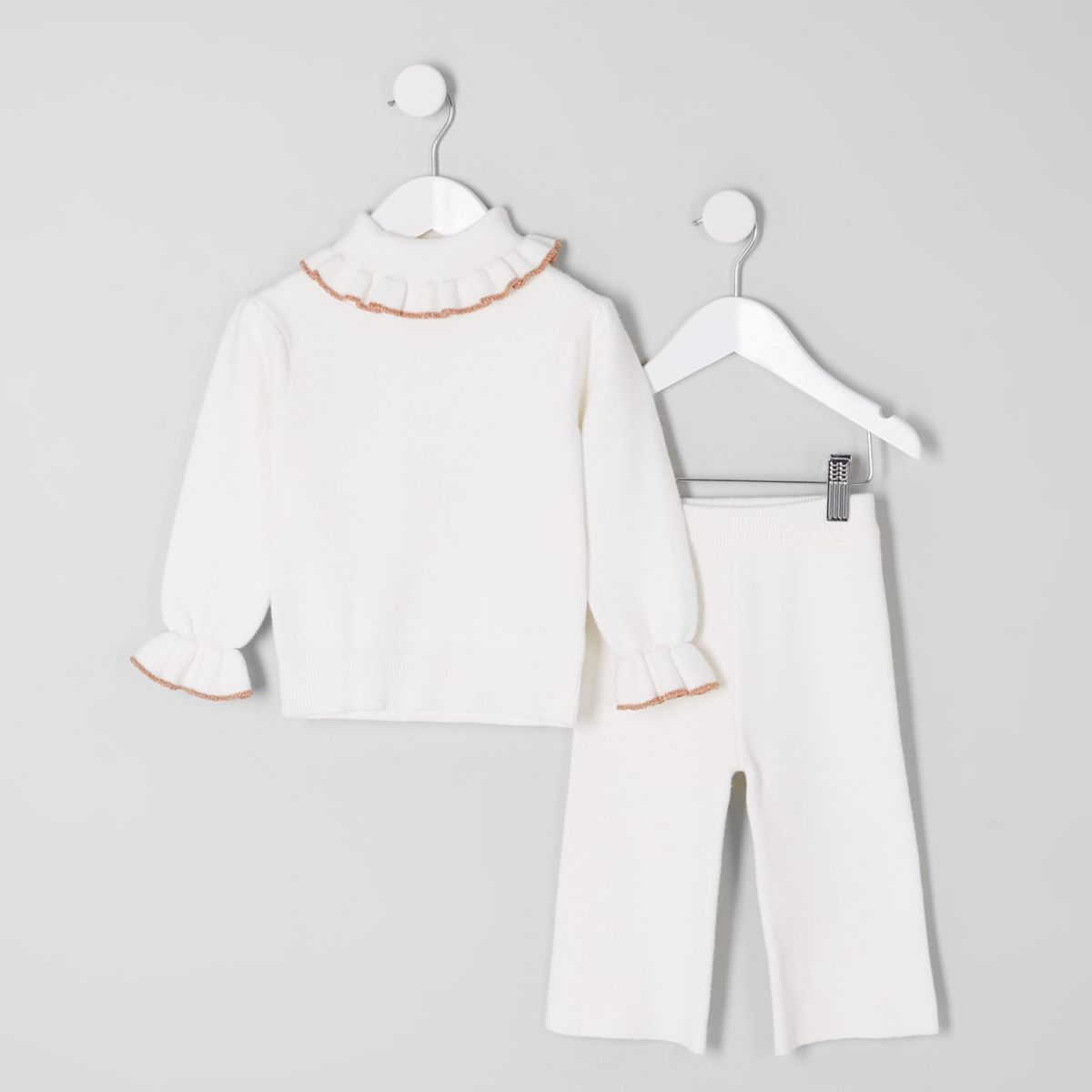 d230989f1 Mini girls cream knit roll neck outfit - Baby Girls Outfits - Mini ...