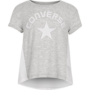 Girls grey Converse lunar rock T-shirt