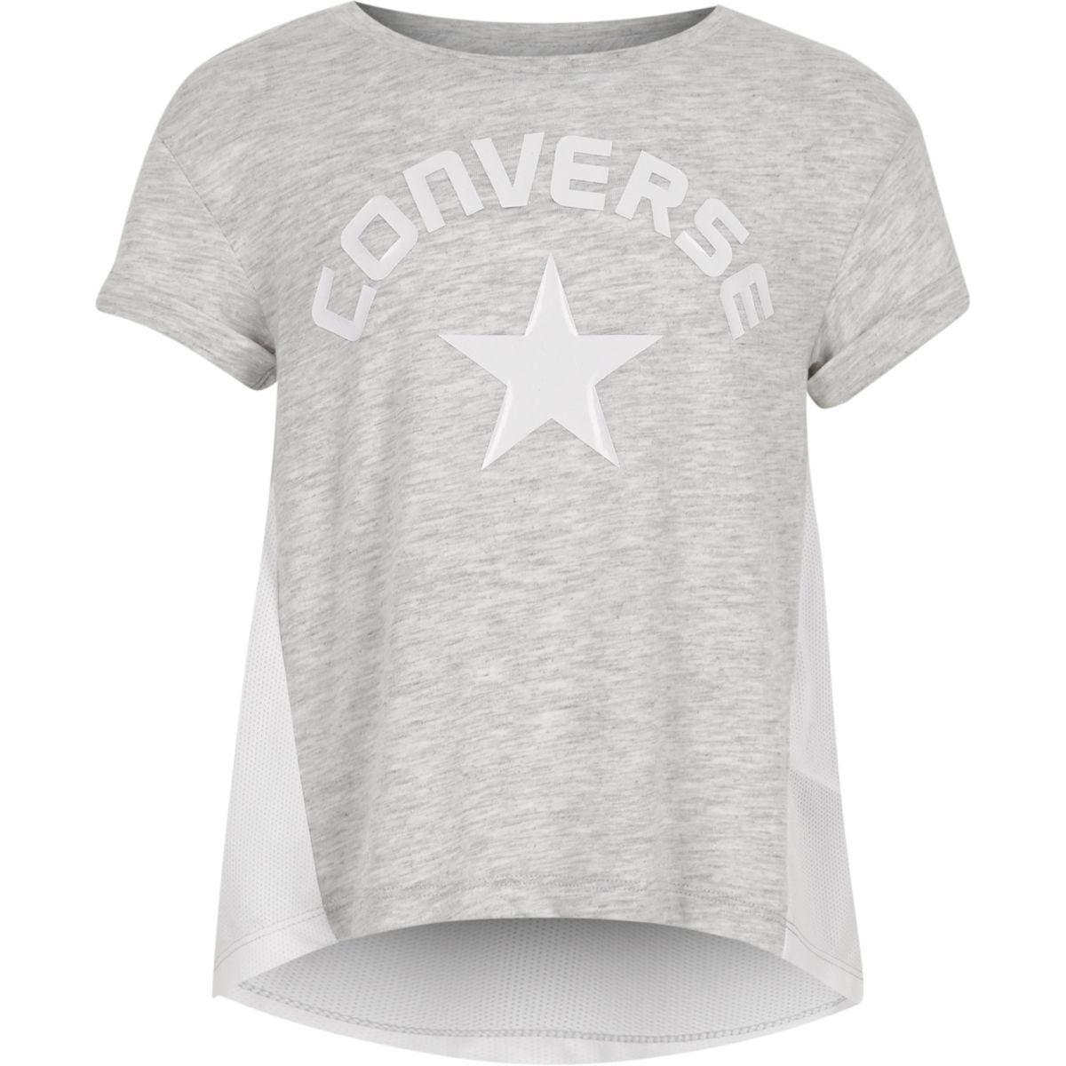 Converse – T-shirt «lunar rock» gris pour fille