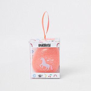 Roze ponyborstel met 'The don't care club'-print voor meisjes