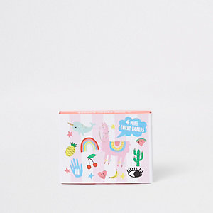 Girls pink 'Happy zoo' emery board mini set
