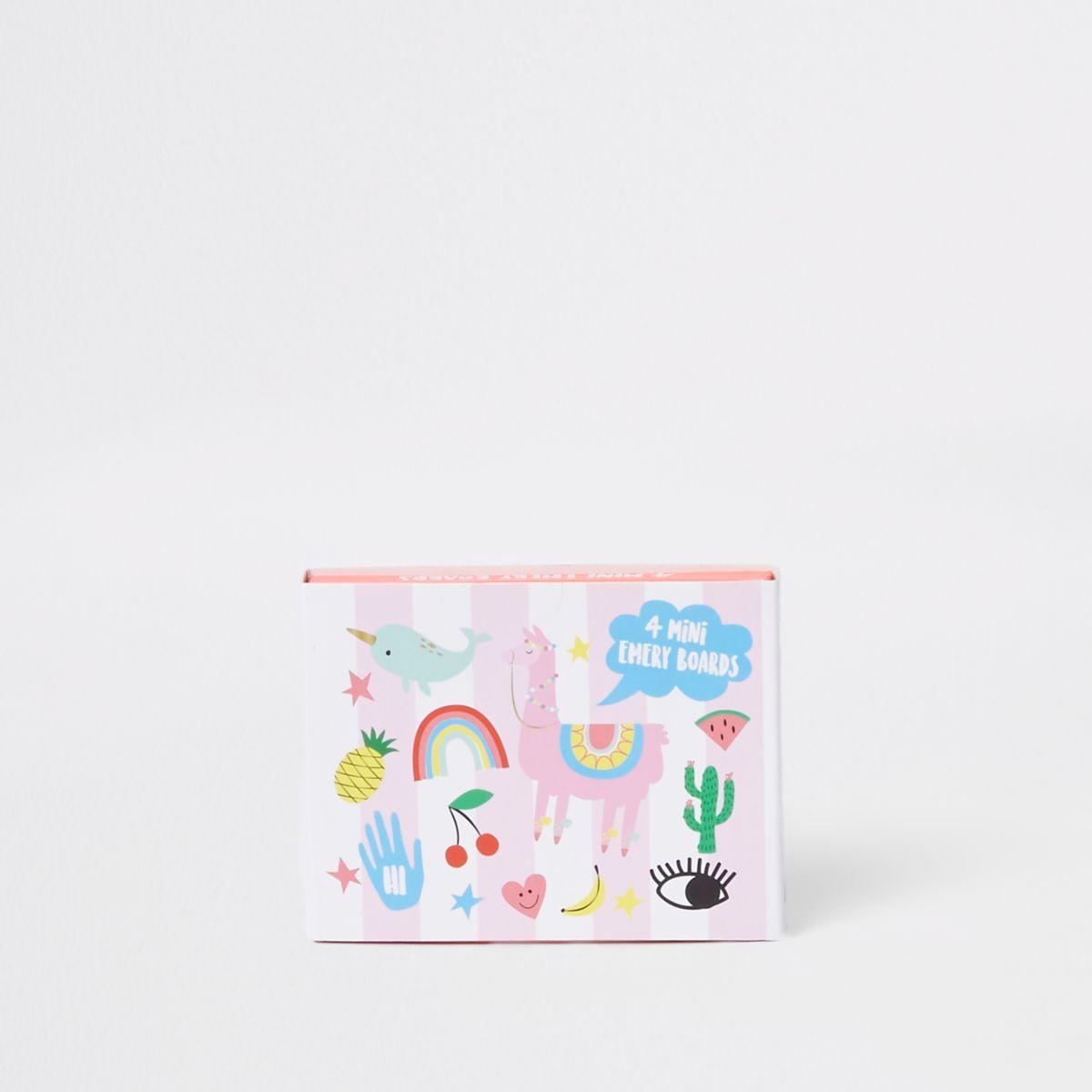 Girls pink 'Happy zoo' emery board mini set
