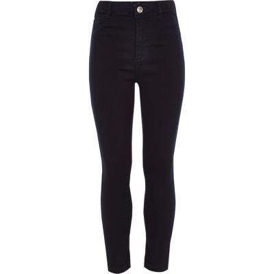 Girls Dark Blue High Rise Molly Jeggings by River Island