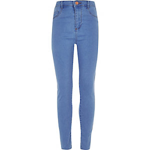 Girls blue Molly high waisted jeans