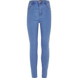 Molly - Blauwe jeans met hoge taille voor meisjes