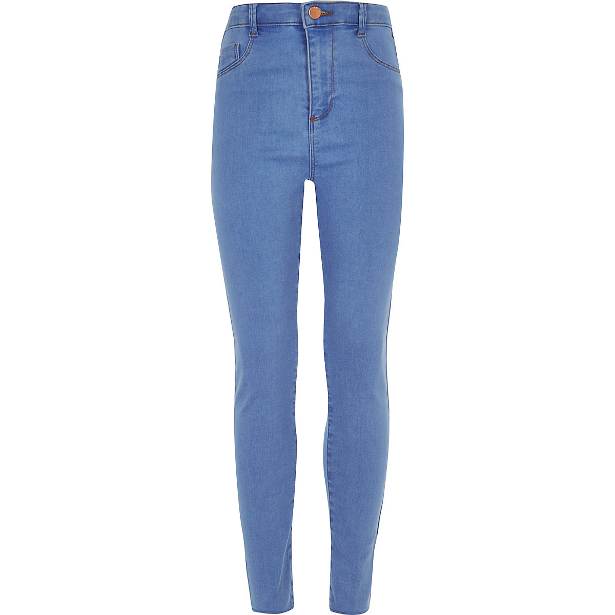 Girls blue Molly high waisted jeggings