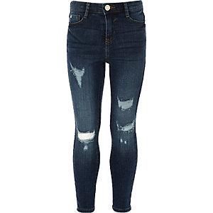 Amelie - Blauwe ripped skinny jeans voor meisjes