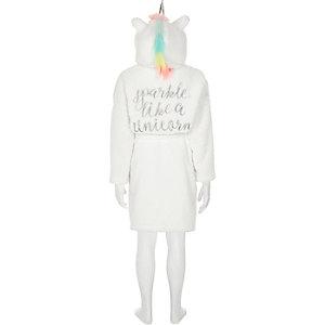 Witte badjas met eenhoornprint voor meisjes