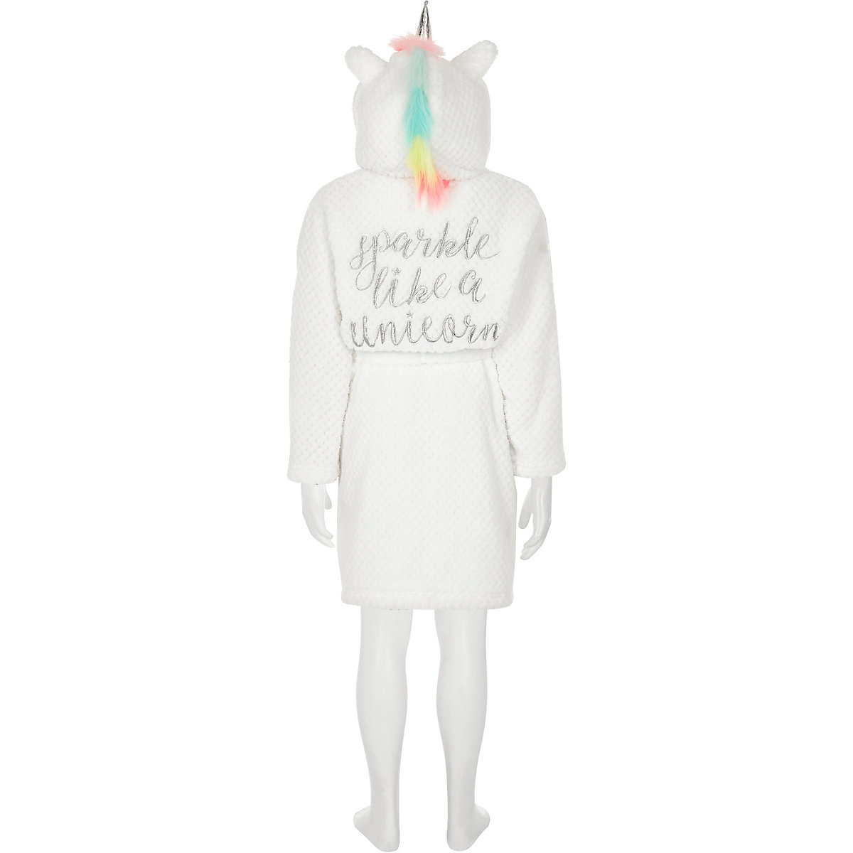 Girls White Unicorn Dressing Gown Pyjamas Underwear Girls
