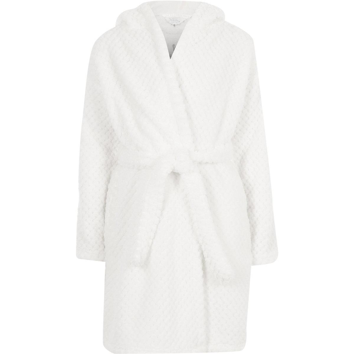 Robe De Chambre Motif Licorne Blanche Pour Fille Pyjamas Sous